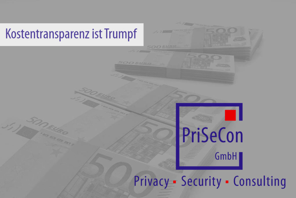 Kostentransparenz ist Trumpf